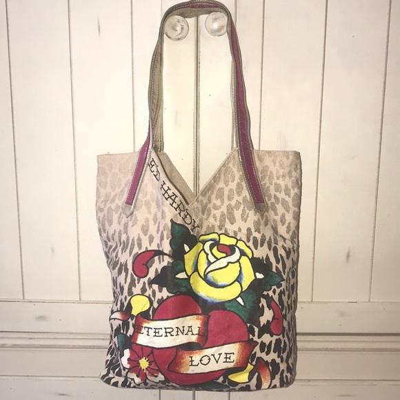 c5f758d8c4f8 Ed Hardy Handbags - Ed Hardy Tote Bag Eternal Love ❤ Design